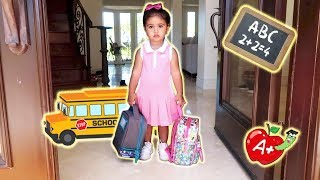ELLE'S FIRST DAY OF SCHOOL!!! (THE CUTEST BABY STUDENT)
