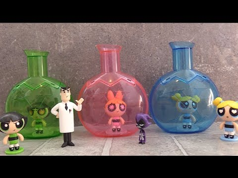 Powerpuff Girls Stuck in Chemical X Bottles Cloned by Professor...and Teen Titans Go! Raven