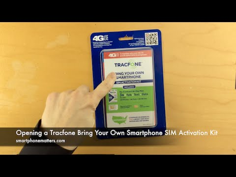 Opening a Tracfone Bring Your Own Smartphone SIM Activation Kit