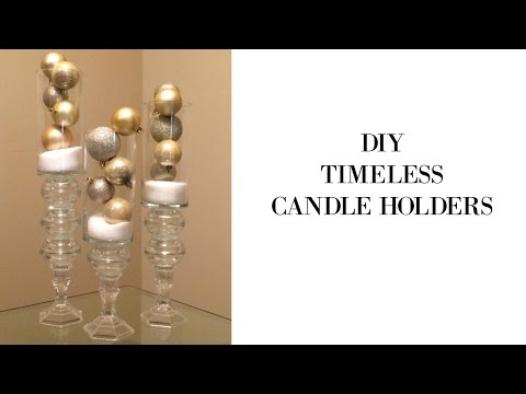 DIY Timeless Candle Holders Using Dollar Tree Supples
