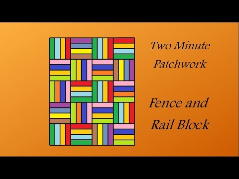 Easy Patchwork Block Tutorial - Fence and Rail