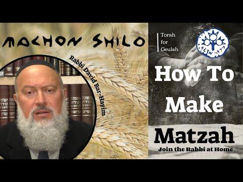 Rabbi David Bar-Hayim Explains How To Make Matzah At Home