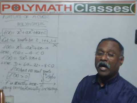 NATURE OF THE CUBIC POLYNOMIAL: PART -1