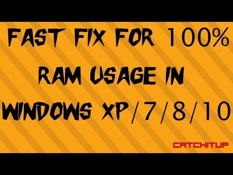 Fast Fix for 100% RAM Usage Windows 10/8/7/XP