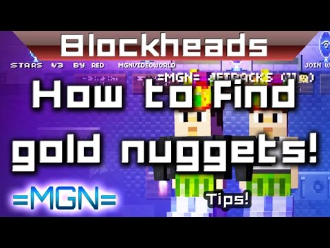 Blockheads - How to find gold nuggets!