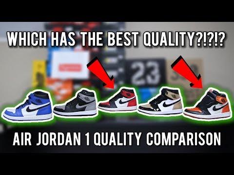 Air Jordan 1 in-depth Leather Quality Comparison