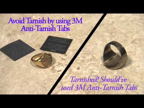 3M Anti-Tarnish Paper Tabs for Silver Copper Gold Jewelry and Silverware