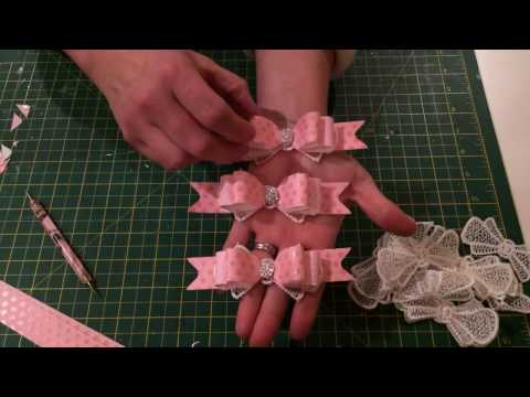 Beautiful but easy bow embellishments