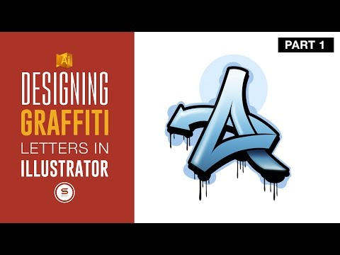 DIGITAL GRAFFITI LETTERS - URBAN ART IN ILLUSTRATOR - 🅿🅰🆁🆃 1