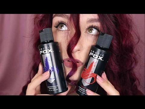 Dying my hair burgundy with arctic fox - results