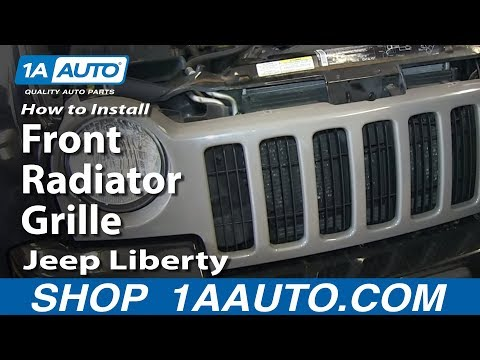 How To Install Replace Front Radiator Grille 2002-04 Jeep Liberty