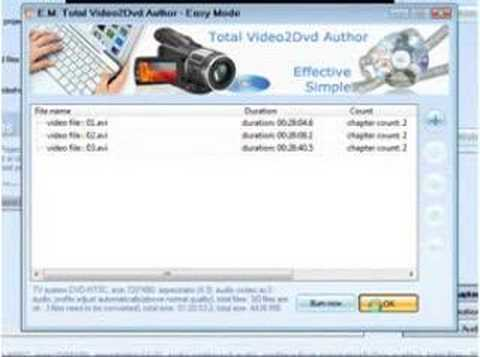 How to burn dvd with dvd menu, use Total Video2Dvd Author