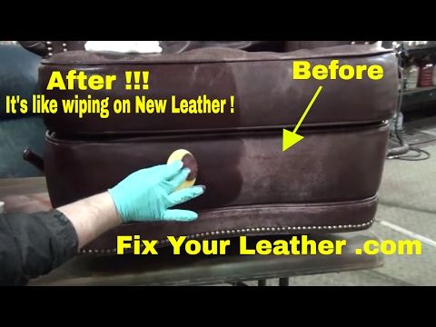 FIX WORN and FADED LEATHER the EASY way.