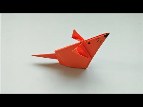 How to Make an Origami Mouse - Cute Origami Mouse Instructions - Easy Paper Mouse Tutorial for Kids