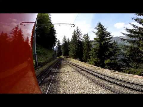 GoPro conneted to outside of train from Mer de Glace to Chamonix, France.