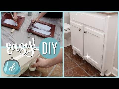 PAINT & CUSTOMIZE CABINETS ON A DIME! (fast how-to tutorial!)