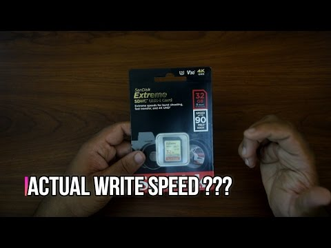 Checking the Actual Write Speed of SanDisk Extreme SD Card