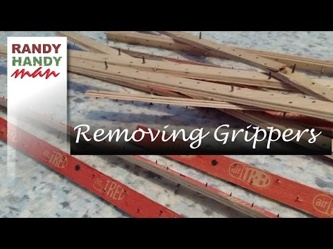 Removing Carpet Grippers and underlay How to remove carpet