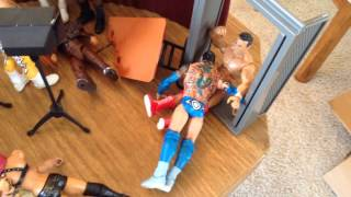 WWE action figure set up - Extreme Edition