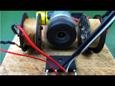 DIY Electric Free Energy Generator Using DC Motor With Magnet - Homemade Science Experiment Project