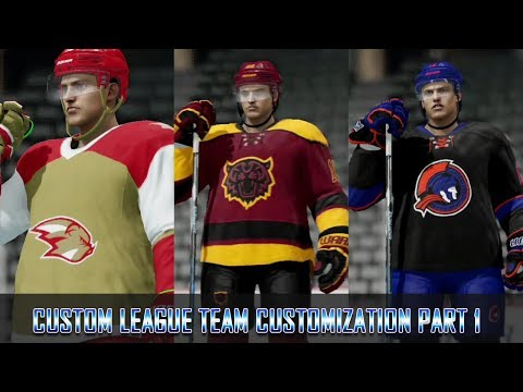 NHL 18 - Custom League - Creating The Teams Part 1