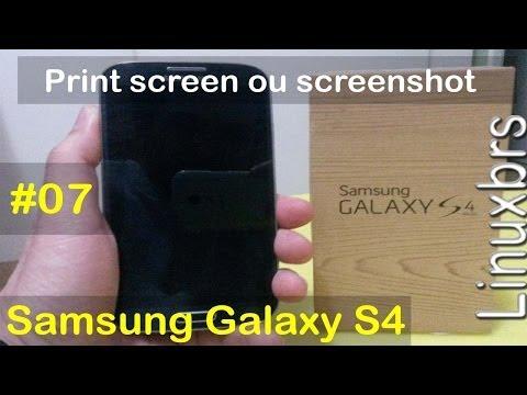 Samsung Galaxy S4 i9505 - 2 formas de Print Screen Screenshot - PT-BR - Brasil