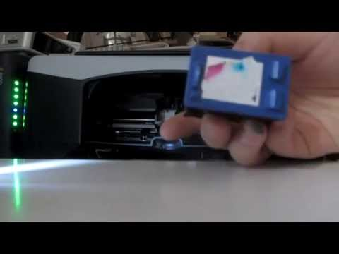 Printer Ink Cartridge Cleaning (HP Deskjet F2180)