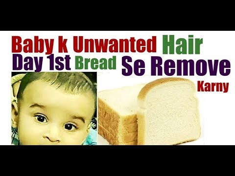 Remove Unwanted Baby Body Hair from Day1///3 Best Home Remedies To Remove Baby Body Hair