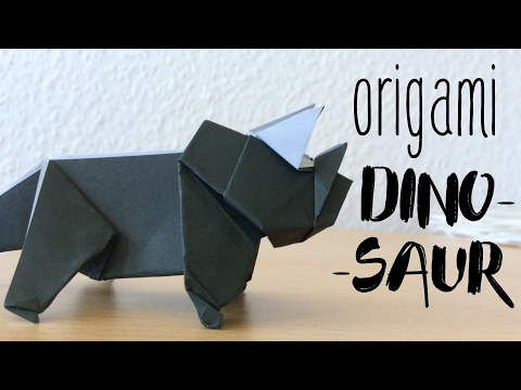 How to make a ORIGAMI DINOSAUR TRICERATOP | paper Dinosaur