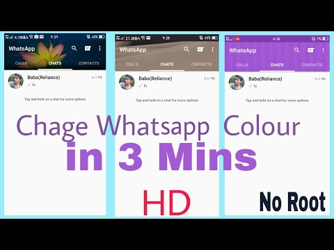 Whatsapp Colour Change Trick || Sinple Way || No Root -[MUST WATCH]-
