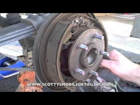 How to remove rear brake drums (Part 1)