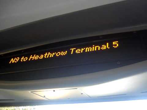 N9 to Heathrow Terminal 5