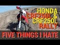 Five Things I HATE about the Honda CRF250L & CRF250L Rally - Ocotillo Wells SVRA