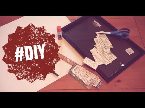 EASY DIY TICKET STUB COLLAGE