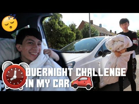 OVERNIGHT CHALLENGE IN MY CAR UK! (SLEEP IN A CAR CHALLENGE)😱