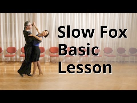 Slow Foxtrot Basic Lesson | Ballroom Dance