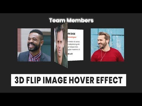 CSS3 3d flip Image hover effect | CSS3 Animation Snippets