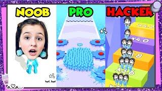 Schaffe ich NOOB vs PRO vs HACKER in Crowd Runner 3D!? 💜 Alles Ava Gaming