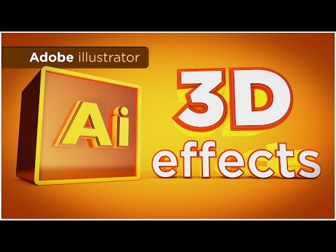 Adobe illustrator 3D Effects Tutorial - Extrude, Revolve, and Rotate in 3D - Sean Frangella