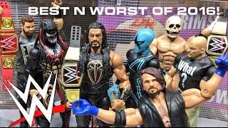 TOP 10 BEST | 5 WORST WWE FIGURES OF 2016 COUNTDOWN LISTS!!