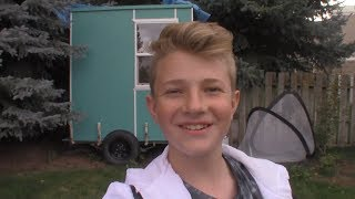 Final Reveal! 14 Year old building a shave ice shack!