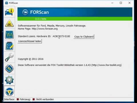How to find ForScan Hardware ID