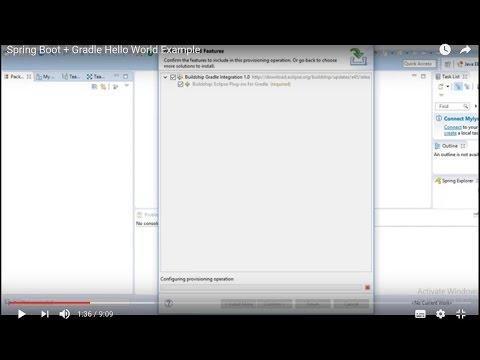 Spring Boot + Gradle Hello World Example