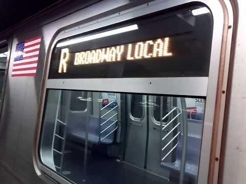 Queens-bound R160B R Train@8th Street-NYU with New Rail Sound