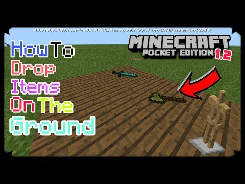 HOW TO DROP ITEMS ON THE GROUND MCPE 1.2 | MINECRAFT PE