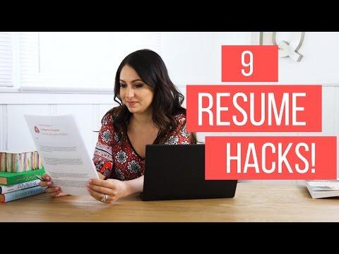 9 Resume Hacks! | The Intern Queen
