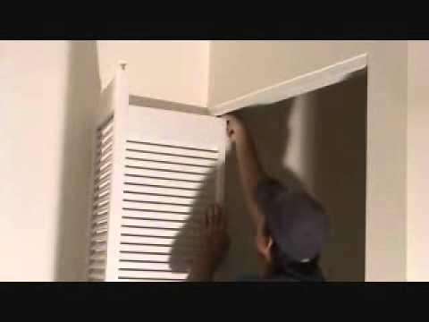 How to remove a bi-fold door unit