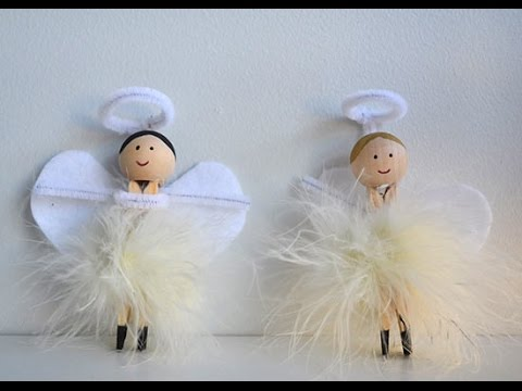 Clothespin Christmas Angel Ornaments Tutorial