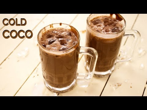 Cold Coco Recipe - Surti Chocolate / Cocoa Milk Shake - CookingShooking