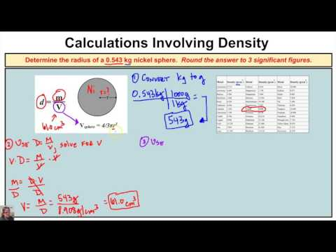 How to Calculate the Radius of a Sphere Using the Density Formula